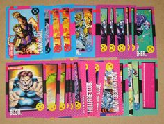 X-Men Series 1 (Impel 1992) Lot of 37 Cards EX