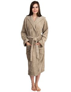 569e8d0a3 TowelSelections Women's Robe Turkish Cotton Hooded Terry Bathrobe Made in  Turkey at Amazon Women's Clothing store: Robes Long