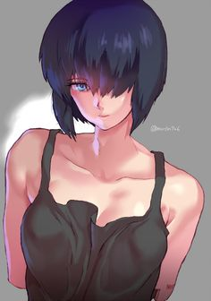 Kusanagi Motoko,Motoko Kusanagi,Ghost in the Shell,Призрак в Доспехах, GitS,Anime,аниме,Anime Art,Аниме арт, Аниме-арт,katsuoboshi