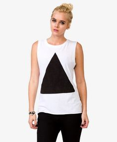 Triangle Graphic Muscle Tee | FOREVER 21 - 2020246001