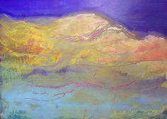 Duinen De duinen van Den Haag, acryl op linnen 110 x 140. het grappige aan dit schilderij is dat het ook andersom opgehangen kan worden. Als het een kwart slag gedraaid wordt lijkt het op een zwangere vrouw.  Fransje Versloot