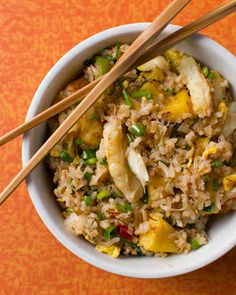 Pineapple crab fried rice, inspired by Jaden Hair of Steamy Kitchen. Recipe on http://honest-food.net