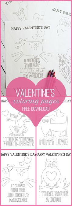 FREE Valentine's Day Coloring Pages on { lilluna.com }