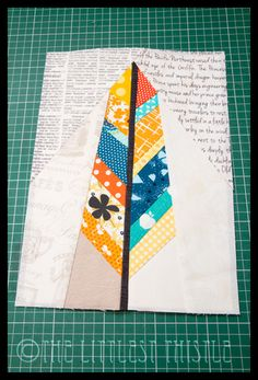 The Littlest Thistle: Paper Pieced Feathers