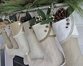 simple, elegant Christmas stockings