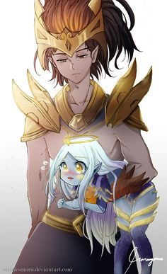 LoL: Nightbringer Yasuo and Dawnbringer Soraka by MhaicsMaru on DeviantArt - League of Legends Lol League Of Legends, League Of Legends Support, League Of Legends Yasuo, League Of Legends Characters, Gravity Falls, Xayah And Rakan, Tomb Raider Cosplay, Overwatch Comic, Mobile Legends