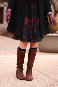 Love these boots as worn by Jessica Quirck from What I Wore