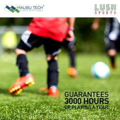 #didyouknow that synthetic turf increases your on-field playing time exponentially and also stays consistent and uniform through different seasons. While natural turf restricts the use of play-field to only 800 hours a year, synthetic turf on contrary stays strong even after 3000 hours of play- a reason conducive enough to switch to lush sports! #MalibuTech #Turf