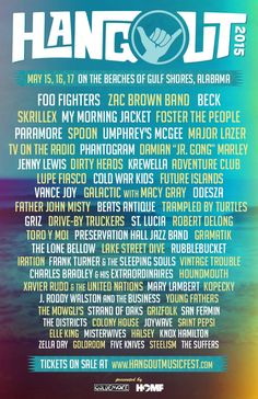 #HangoutFest15 lineup, tickets, dates, times + more! May 15-17 |The Hangout | Gulf Shores, Alabama
