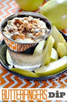 The yummiest Butterfinger Dip Recipe at the36thavenue.com This is SO good!