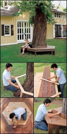 Enjoy The Cool Shade Under Your Tree by Building a Bench Around it!