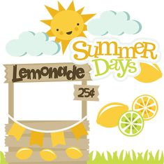Summer Days - SVG Scrapbooking cut files