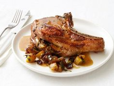 Celebrate autumnal flavor by preparing this sweet and fragrant cranberry-sage sauce for Cranberry-Stuffed Pork Chops.