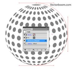 How to allocate flat objects on a sphere surface in Adobe Illustrator - Illustrator Tutorials - Vectorboom