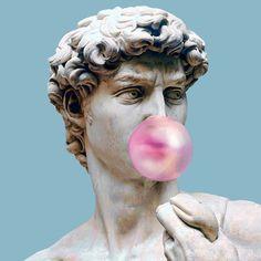 Immagine di art, statue, and pink