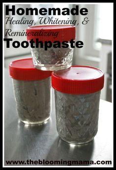 Homemade healing, whitening, & remineralizing toothpaste