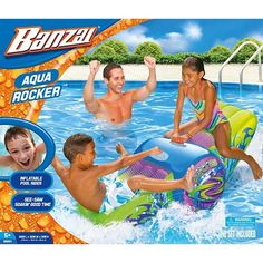 Banzai Aqua Rocker Inflatable  Water Float - Kids