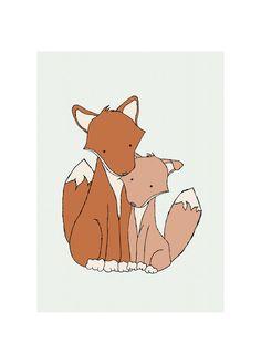 Fox Nursery Art My Little Fox Woodland by SweetMelodyDesigns, $10.00