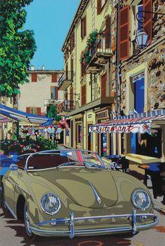 Auto Illustration, Japanese Illustration, Landscape Illustration, Auto Poster, Car Posters, Mobile Art, Car Drawings, Human Art, Automotive Art