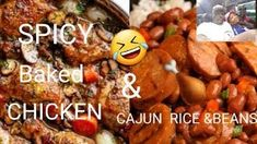 How To Make Spicy Baked Chicken & Cajun Rice & Beans Tutorial - The Best Chicken Recipes Great Chicken Recipes, Great Recipes, Stir Fry Recipes, Cooking Recipes, Cajun Rice, Spicy Baked Chicken, New Cooking, Easy Meals, Beans