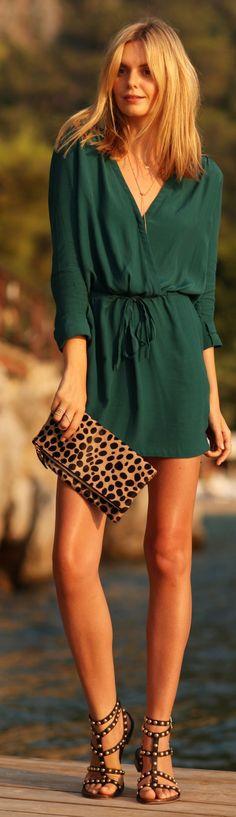 lindo con los wedges de leopardo de md