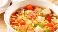 Soup Recipes, Cooking Recipes, Healthy Recipes, Healthy Food, Risoni, Soups And Stews, Fruit Salad, Cantaloupe, Cabbage
