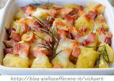 Patate saporite a cubetti con formaggi e salumi vickyart arte in cucina