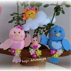 Sevimli kuş ailesi eski müşteri Seda hanım için hazırlandı :) #kapısüsü #aileboyu #aile #kuş