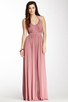Pina Halter Dress These would make awesome and super casual and fun bridesmaid dresses! Ha! And I even like the color :)