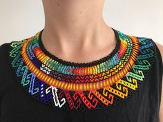 Your place to buy and sell all things handmade Beaded Necklaces, Beaded Jewelry, Unique Jewelry, Zulu, Mosaic Art, Collars, Gifts For Her, Trending Outfits, Handmade Gifts