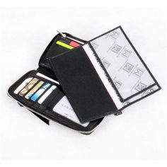 Karla Hanson offers Quality Color Leather Goods, Computer, Cross, Brief, Body Bag in USA and Canada Fashion Wallet, Ladies Fashion, Womens Fashion, Wallets For Women Leather, Cow Leather, Body Bag, Leather Wallet, Black And Grey, Lady