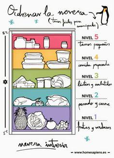 Con la nevera ordenada será más fácil conseguir los alimentos que quieres y saber qué necesitas comprar