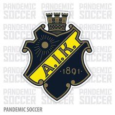 AIK Fotboll Gnaget Stockholm Sweden Vinyl Sticker Decal