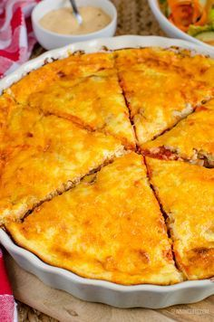 Slimming Eats Syn Free Cheeseburger Quiche - gluten free, Slimming World and Weight Watchers friendly