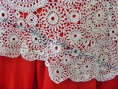 Szera blogja: Horgolt Menyasszonyi ruha 13. rész - Crocheted Wedding dress part 13 Valance Curtains, Wedding Dress, Jewelry Making, Crochet, Blog, Painting, Home Decor, Bride Dress Up, Crochet Hooks