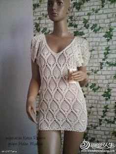 Katia Ribeiro Moda & Decoração Handmade: Saida de Praia Crochê