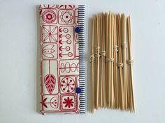 Double Pointed Knitting Needle Cozy Crochet Hooks Holder by LowlandOriginals on Etsy