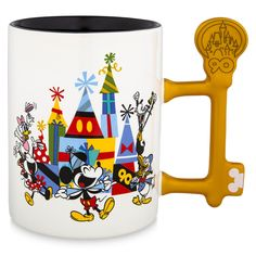 Mickey Mouse and Friends World's Biggest Mouse Party Mug - Official shopDisney® Mickey Mouse Club, Mickey Mouse And Friends, Disney Mickey Mouse, Disney World Theme Parks, Disney Parks, Disney Coffee Mugs, Gift Subscription Boxes, How To Use Dishwasher, Minnie Bow