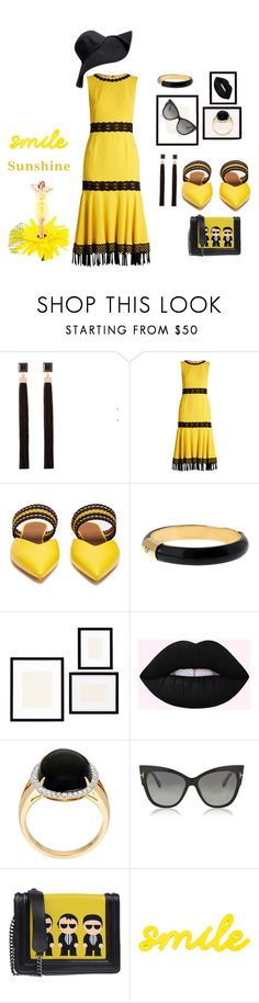 Smile Sunshine by marlaj-50 on Polyvore featuring Dolce&Gabbana, Roksanda, Iosselliani, Diane Von Furstenberg, Tom Ford and Pottery Barn