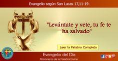 MISIONEROS DE LA PALABRA DIVINA: EVANGELIO - SAN LUCAS 17,11-19