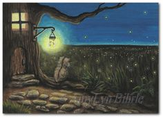Hey, I found this really awesome Etsy listing at https://www.etsy.com/listing/164334867/lil-hamster-summer-night-fireflies-art