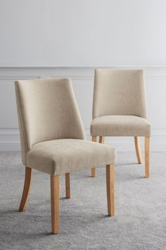 Next Set Of 2 Wolton Dining Chairs - Natural Cream Dining Chairs, Kitchen Chairs, Victorian Terrace, Next Uk, Sofas, Accent Chairs, Lounge, Luxury, Interior