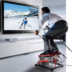 Ski Sim, I must have this. I think there's little chance of me falling and snapping a hip!