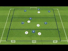 Objective is for the Blue team to build the play from the Goalkeeper through all 3 zones to score in one of the Target Goals. The Blue team must complete at . Football Coaching Drills, Soccer Drills, Team Wear, Soccer Training, Goalkeeper, Animation, Activities, Play, Games