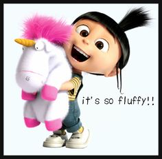 "Agnes from Despicable Me :3 ""it's so fluffy, i'm gonna die"""
