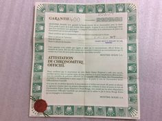 ROLEX 16234 Certificate Guarantee paper vintage 1988 +  free shipping  #Rolex