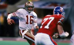 Joe Montana - the only player to be voted Super Bowl MVP three times (XVI, XXIII, and XXIV) Here he is against Denver in Super Bowl XXIV.