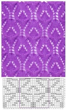 Nice pattern with knitting needles in piggy bank 0 - Stricken Baby Sachen Lace Knitting Stitches, Lace Knitting Patterns, Knitting Charts, Lace Patterns, Knitting Designs, Knitting Projects, Hand Knitting, Stitch Patterns, Knitting Needles