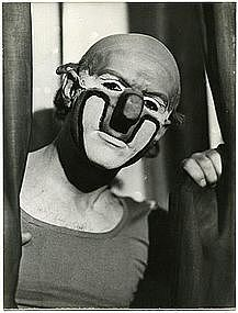 vintage clowns | Vintage clown photograph CHARLIE RIVEL | Austria 1940s