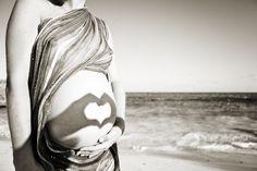 baby, beach, belly, heart, love